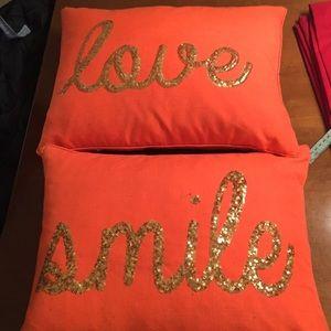 Fall Pillows. Smile. Love.